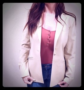 The Limited extra stretch cream one button blazer